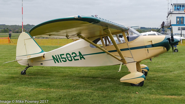 N1502A - 1951 build Piper PA-20 Pacer, at Halfpenny Green during Radials, Trainers & Transports 2017
