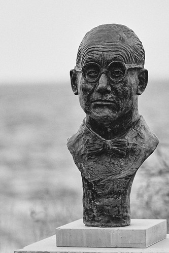The bust of Le Corbusier in Roquebrune Cap Martin, where he lived and died | by andrew_maier