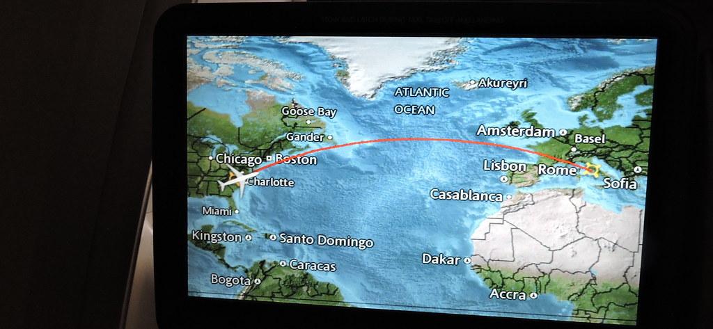 Flight Path Aa 720 Charlotte To Rome Italy American