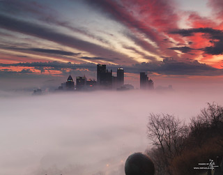 Fog Rolling Over Pittsburgh | by Z!@