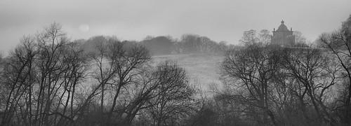 northyorkshire castlehoward yorkshire trees bw landscape