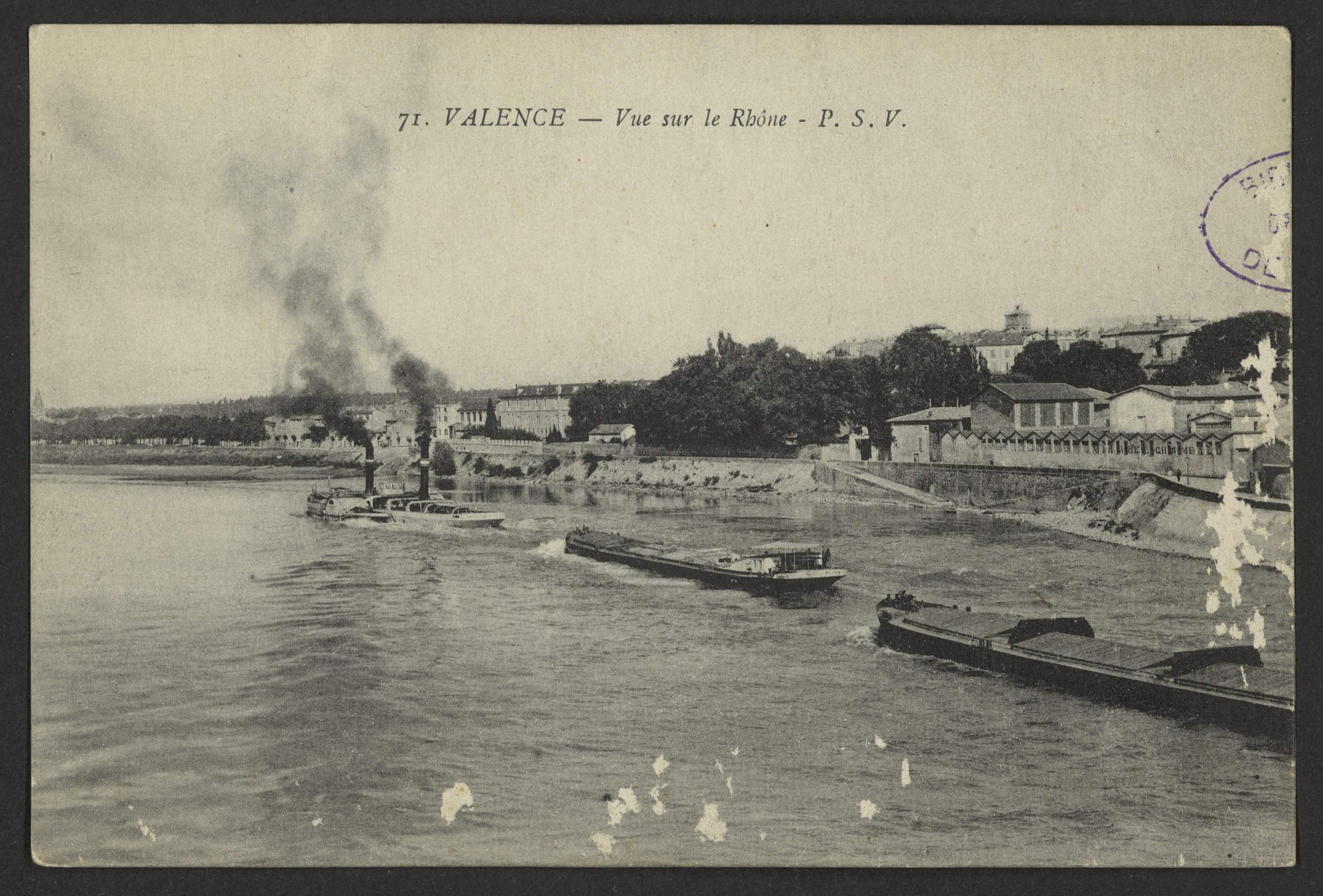 Valence - Vue sur le Rhône