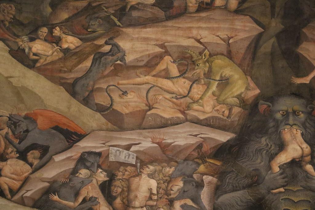 Giovanni da Modena (1379-1455) - Giudizio universale - Cappella dei Re Magi o Cappella Bolognini (1410) - Basilica di San Petronio Bologna