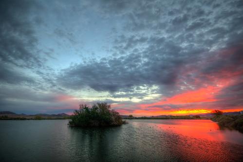 desert nature water sky clouds hdr beautiful landscape henderson nevada bird viewing preserve sunrise sun rise