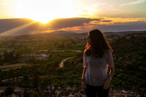 landscape monteagudo murcia ville sun sunset sky model girl canon 1100d exploring world