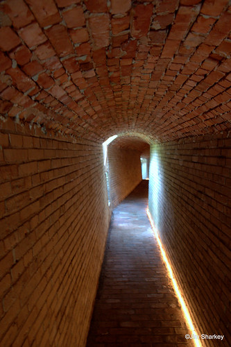 tunnel in German bunker on Hitlers Atlantic wall at Ostend