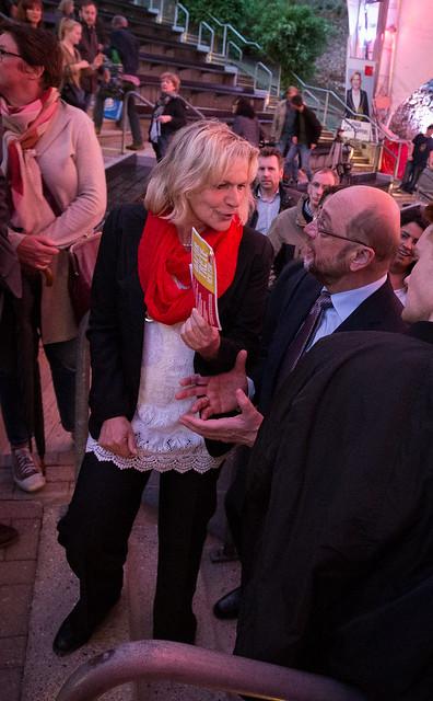 Eva-Maria Voigt-Küppers und Martin Schulz auf der Burg Wilhelmstein