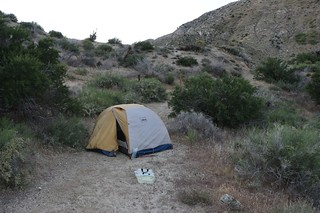 1041 Our tent and campsite south of PCT mile 226, just before the trail begins a long climb out of the canyon | by _JFR_