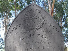 Sara Jacobs' Headstone, St Stephen's Church of England Cemetery, Willunga