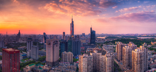 skyline sky panorama city cityscape building architecture landmark tall sunset twilight cloud hdr tower modern nikon nikond800 tamronsp1530f28 dusk blue