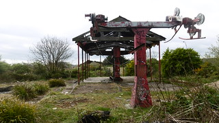 Remains of chairlift, North Bay Amusement Park, Scarborough   by dave_attrill