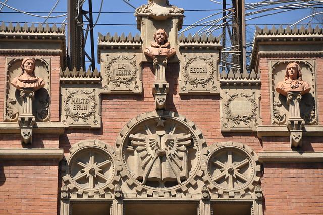 Barcelona (Aragó street). Antoni Tàpies Foundation (originally Montaner & Simon publishing house).  1880-1885 (rehabilitated 1990 and 2008-2010). Lluís Domènech i Montaner, architect