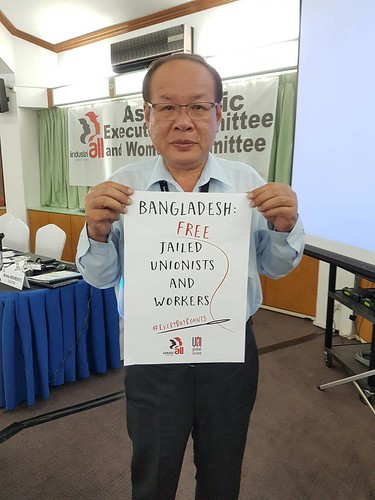 圖09莊理事長聲援孟加拉遭監禁之工會幹部
