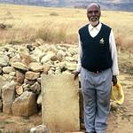 Decendant at Moshoeshoe grave - Lesotho, Southern Africa