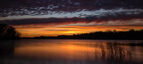 2017 may kevinpovenz westmichigan michigan ottawacounty ottawa ottawacountyparks thebendarea pond lake reflection water clouds evening sunset dusk canon7dmarkii sigma1020 yellow blue orange