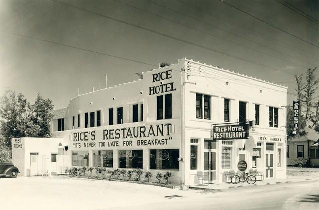 Rice's Hotel, Restaurant, and Market, Stuart, Florida, 1950s