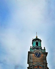 Don't forget to look up. That is how I found the oldest church in Gamla stan.