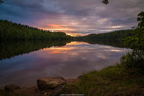 summer evening sunrise 2015 amazing earth finland suomi landscape view lake calm water reflections clouds sun jyväskylä nature laurilehtophotography instagram köhniö canon 5d 24105mm f4l digital art kesä maisema