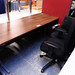 Walnut straight desk E120