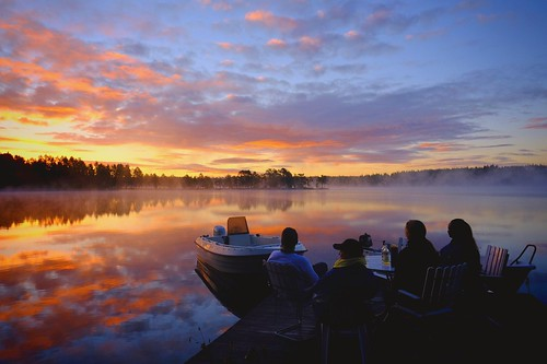 dalarna friends gimmen lake midsommar midsummer morning sjö summer sunrise sweden
