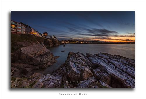 brixham dusk sunset glow sea torbay sky rocks twilight clouds lastlight rtaphotography nikond7000 sigma1020mm456exdchsm devon southdevon