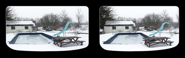 Winter by the Cement Pond - Parallel 3D