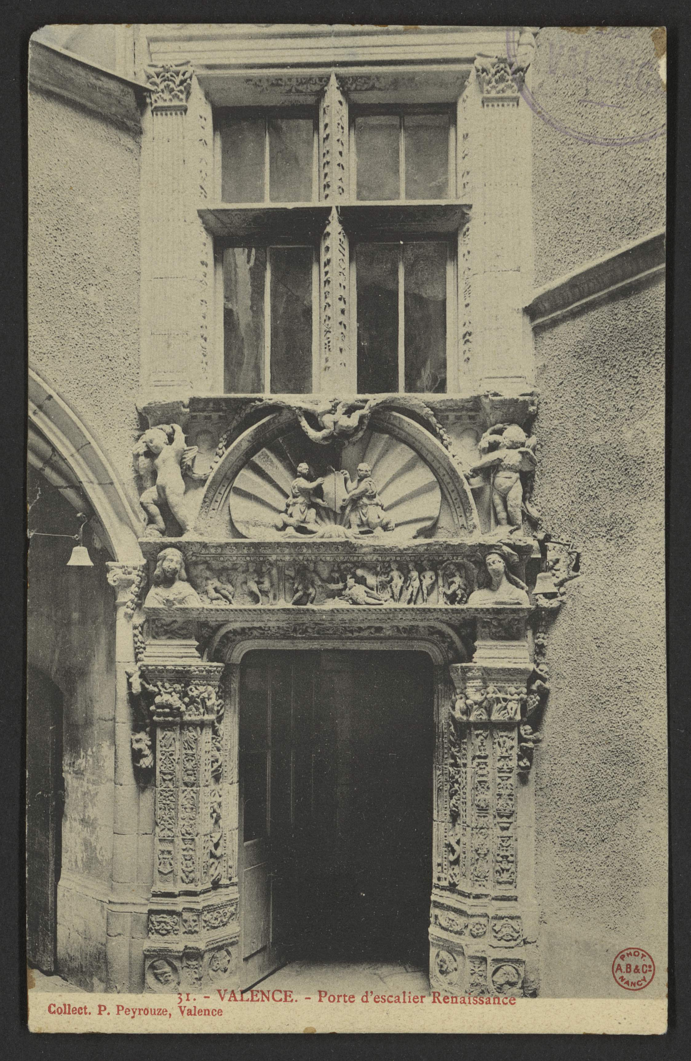 Valence. - Porte d'escalier Renaissance