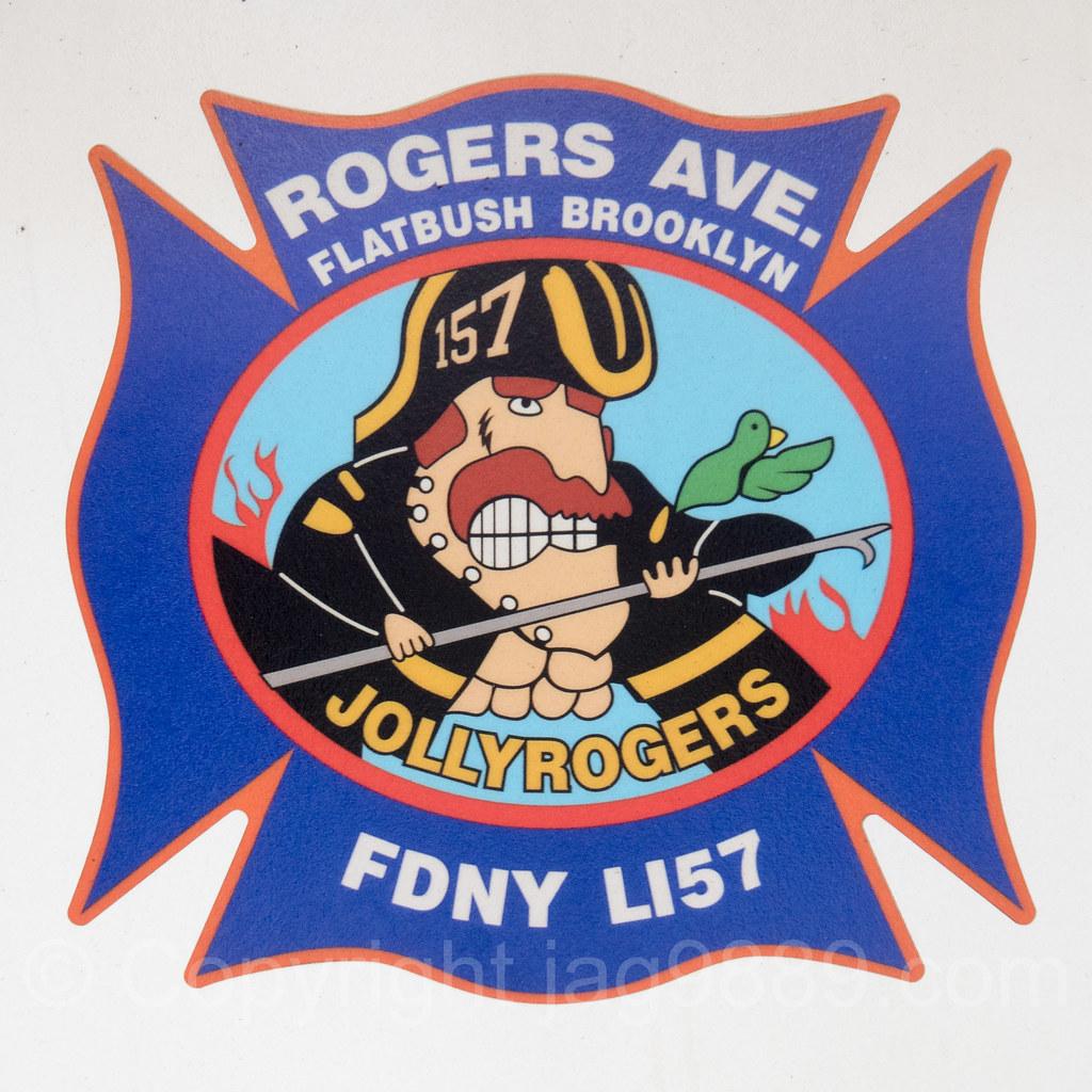 FDNY Jolly Rogers Tiller Ladder 157 Fire Truck, Flatbush