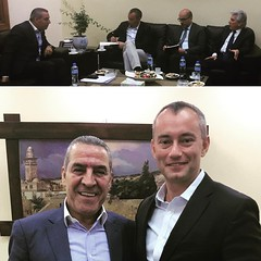 With #Palestinian Minister Husain al Sheikh discussing #Gaza and the upcoming #AHLC meeting #UN