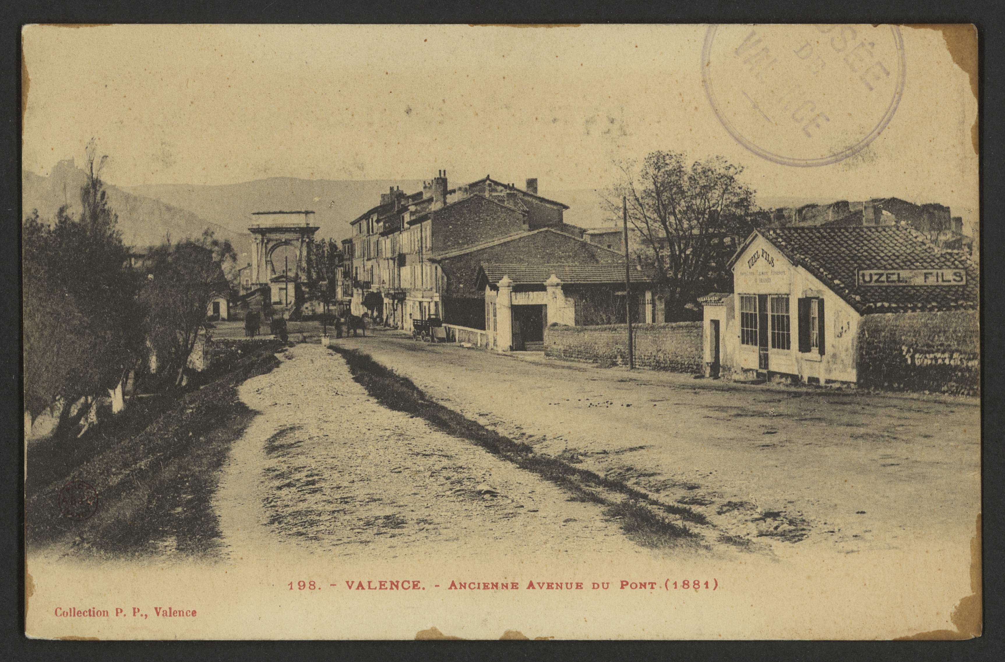 Valence - Ancienne Avenue du Pont (1881)
