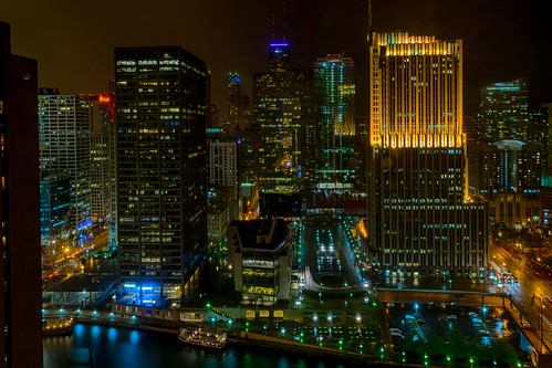 chicago chicagoriver hdr hww hyattregencychicago illinois nikon nikond5300 city downtown geotagged hotel lights longexposure night reflection reflections river sky street view window windows unitedstates