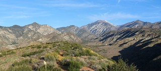 1178 Panorama view north toward San Gorgonio with wildflowers from the PCT at mile 223 | by _JFR_