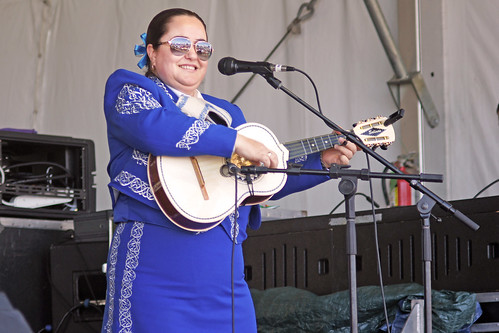 Mariachi Jalisco US at the Jazz & Heritage Stage Day 5 of Jazz Fest - May 5, 2017. Photo by Bill Sasser.