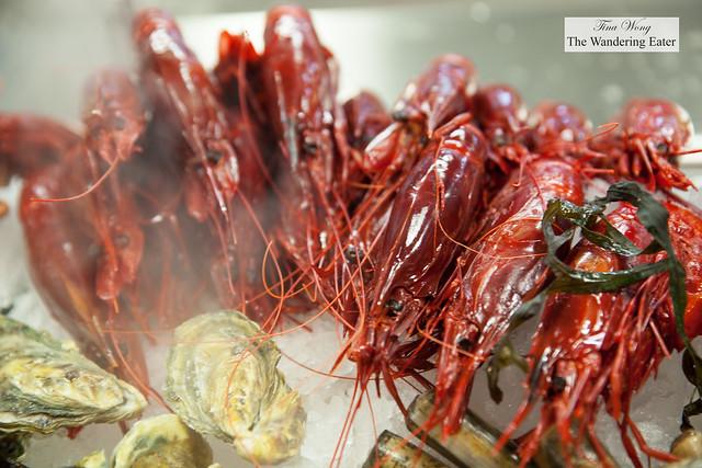 Deep-sea cardinal prawns