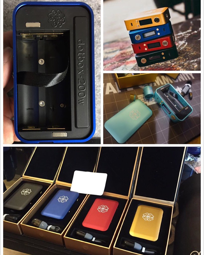 Dotmod 200w coming authentic 5 colors total (red,black,gol