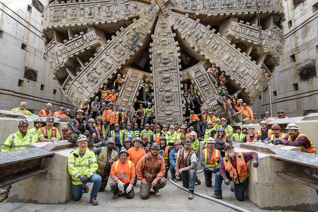 Bertha's tunnel building team