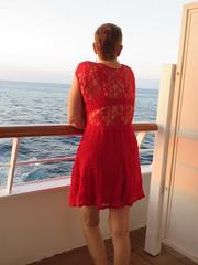 Red dress woman
