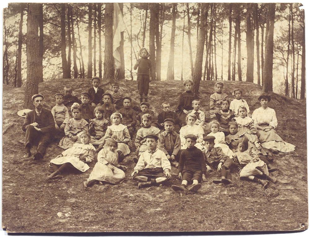 Openluchtschool van Diesterweg's Hulpkas, 1908 | Open-air school from Diesterweg's Hulpkas, 1908