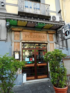 Marble show-window of Pizzeria Lombardi, year 1892, at Via Foria n° 12 in Naples