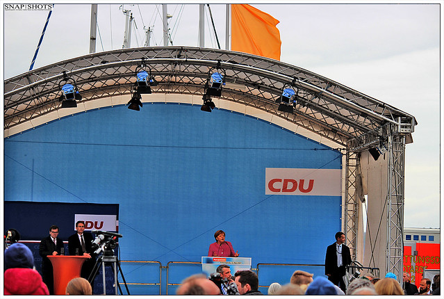 Bundeskanzlerin Dr. Angela Merkel in Eckernförde