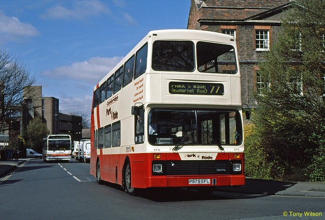 26 Stagecoach Cambus 579 Volvo Olympian Northern Counties Madingley Road Cambridge April00 (Copy)