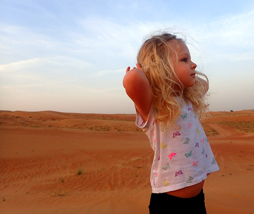 2017 - UAE - Excursion - Morning - Millie on Dunes | by SeeJulesTravel