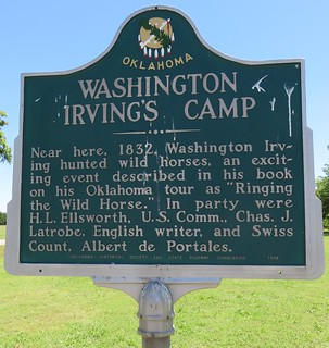 Washington Irving's Camp Marker (Arcadia, Oklahoma)