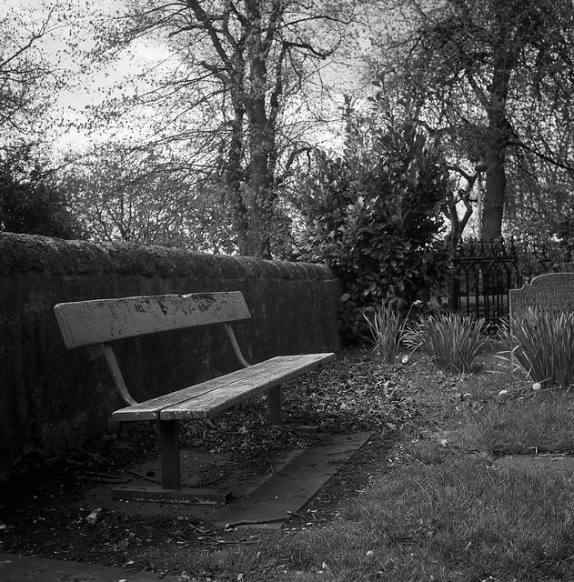 FILM - Churchyard bench