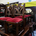 Oak chair wine seat E45