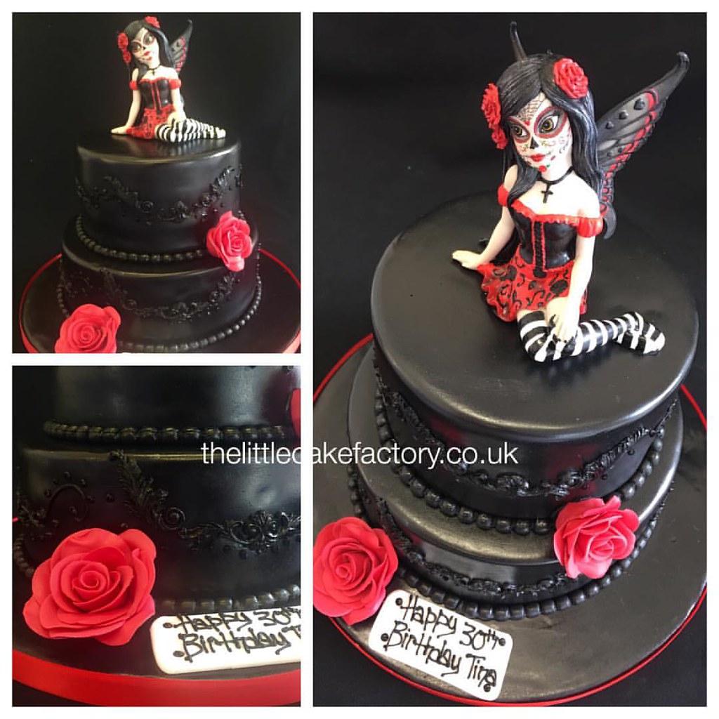 Superb Sugar Skull Fairy Cake Thelittlecakefactory Co Uk Sugarskull Funny Birthday Cards Online Aeocydamsfinfo