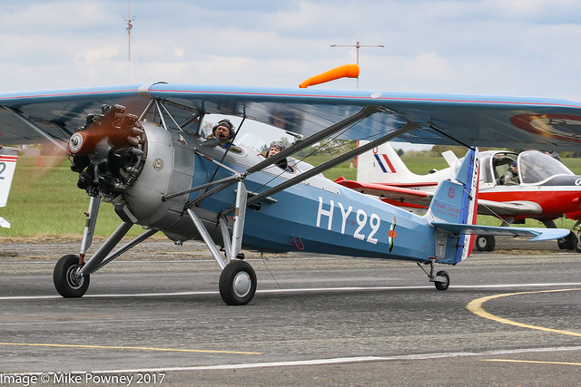 G-MOSA - 1952 build Morane Saulnier MS317, taxiing for departure at Halfpenny Green during Radials, Trainers & Transports 2017