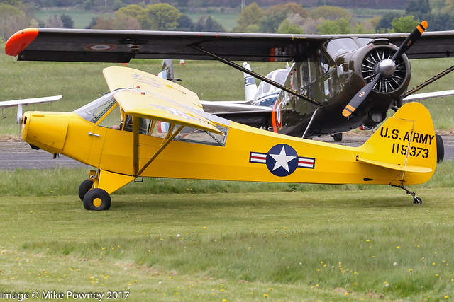 G-AYPM - 1951 build Piper L18C Super Cub, at Halfpenny Green during Radials, Trainers & Transports 2017