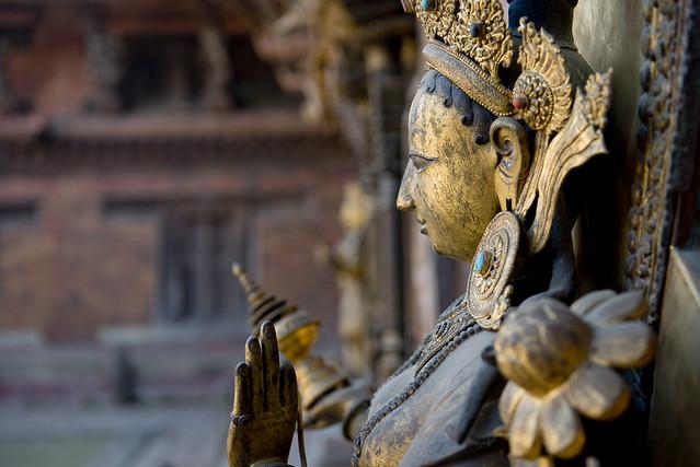 NPL - Hindu goddess Yamuna - Patan