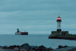 Duluth Trip - Joyce L Van Enkevort/Great Lakes Trader Approaching Duluth Harbor Entry | by pmarkham